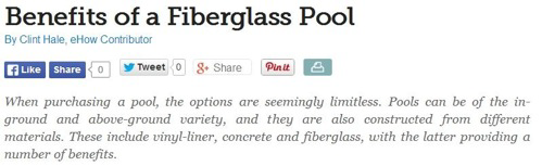 Fibreglass Pools in Perth Homes Offer Various Advantages to Owners