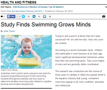 study finds swimming grows minds
