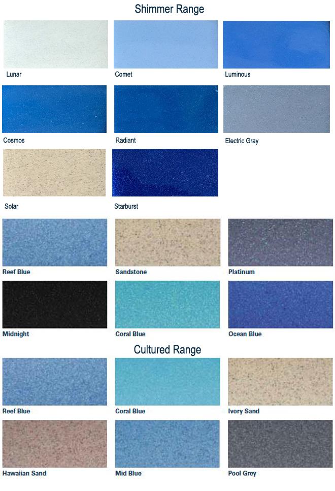 Shimmer colour range