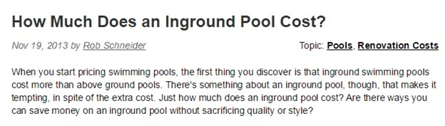 Inground Pool Cost