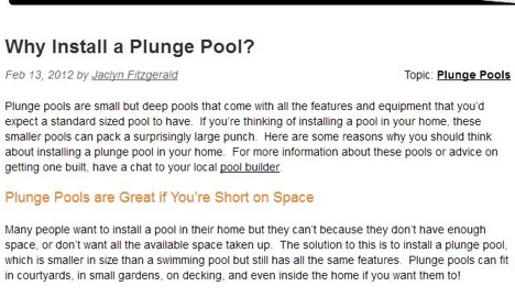 Dive into Pool Purchase: Benefits of Plunge Pools for Perth Homes