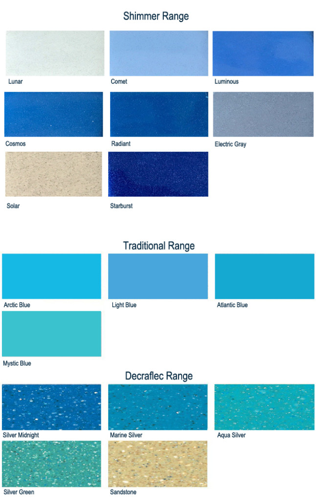 Traditional Pool Colour Range