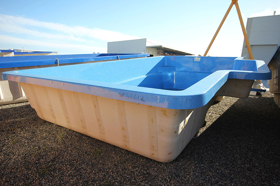 "Refurbished Fibreglass Swimming Pool ""Imperial"" for Sale in Perth (Colour: Horizon)"
