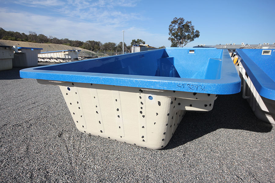 "Refurbished Fibreglass Swimming Pool ""Caprice"" for Sale in Perth (Colour: Assana Blue)"