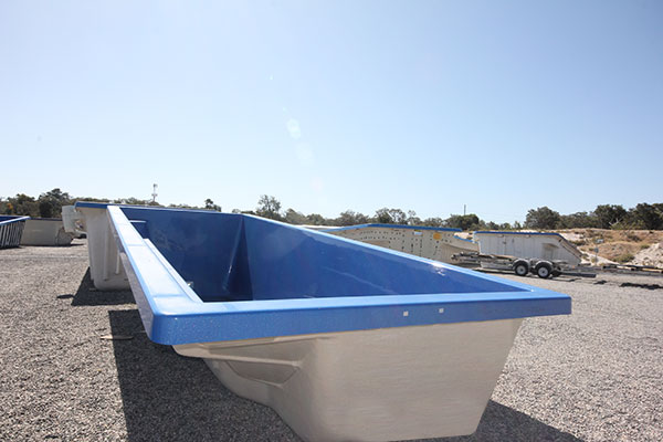 "Refurbished Fibreglass Swimming Pool with ""Cyber Blue"" Pool Colour"