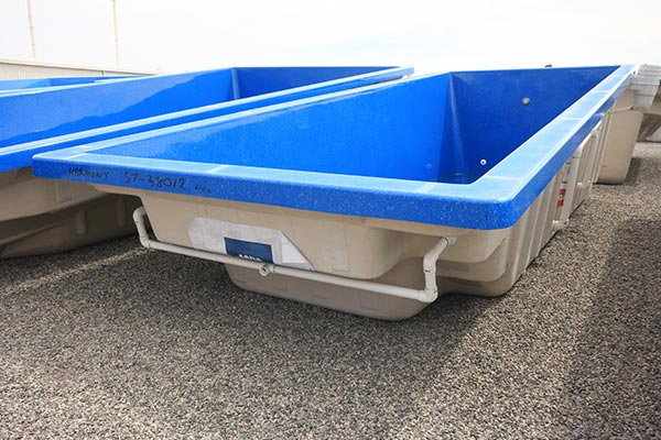 "Refurbished Fibreglass Swimming Pool with ""Assana Blue"" Pool Colour"